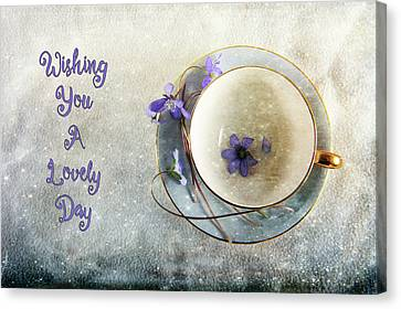 Spring In A Cup Canvas Print by Randi Grace Nilsberg