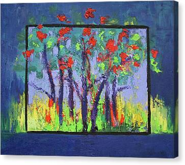 Canvas Print featuring the painting Spring In Burnt Store by Karin Eisermann