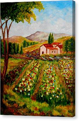 Spring In France Canvas Print by Constantinos Charalampopoulos