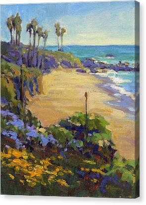 Spring In Heisler Park, Laguna Beach Canvas Print by Konnie Kim