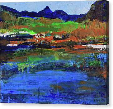Canvas Print featuring the painting Spring In High Country by Walter Fahmy