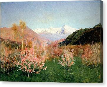 Spring In Italy Canvas Print by Isaak Ilyich Levitan