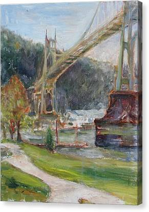 Spring In St. Johns - Original Contemporary Impressionist Painting Canvas Print