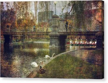 Spring In The Boston Public Garden Canvas Print