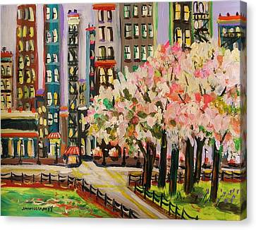 Spring In The City Canvas Print by John Williams