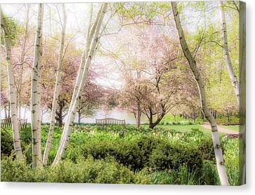 Spring In The Garden Canvas Print by Julie Palencia