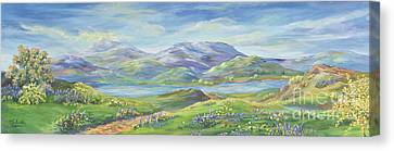 Spring In The Okanagan Valley Canvas Print by Malanda Warner