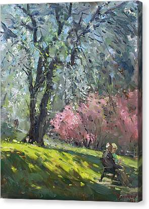 Lakeshore Canvas Print - Spring In The Park by Ylli Haruni