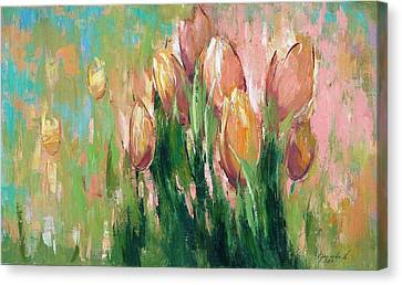 Oil On Canvas Print - Spring In Unison by Anastasija Kraineva