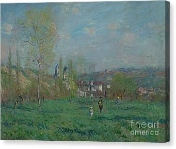 Spring In Vetheuil, By Claude Monet, 1880, Boijmans Van Beuninge Canvas Print