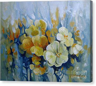 Canvas Print featuring the painting Spring Inflorescence by Elena Oleniuc