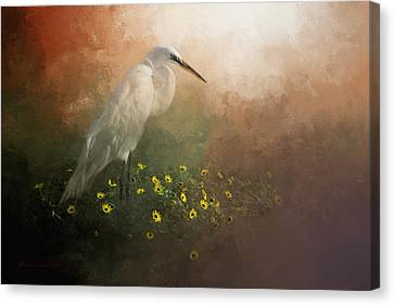 Crane Canvas Print - Spring Is Here by Marvin Spates