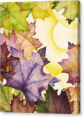 Spring Maple Leaves Canvas Print by Christina Meeusen