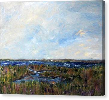 Spring Marsh Canvas Print by Michael Helfen