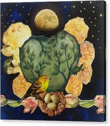 Spring Moonrise Canvas Print by Jo Thompson