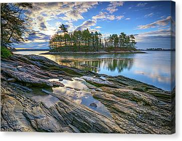 Spring Morning At Wolfe's Neck Woods Canvas Print by Rick Berk