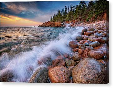 Spring Morning In Acadia National Park Canvas Print by Rick Berk