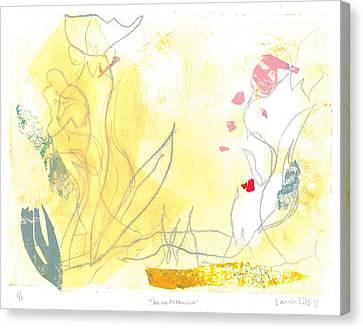 Abstact Landscapes Canvas Print - Spring Morning by Lauren Ellzey