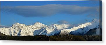 Spring Mountains Sierra Nevada Panoramic Canvas Print