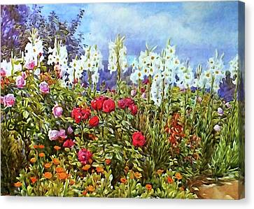 Canvas Print featuring the photograph Spring by Munir Alawi
