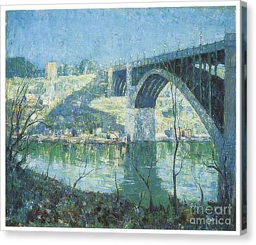Spring Night Over Harlem River Canvas Print by Celestial Images