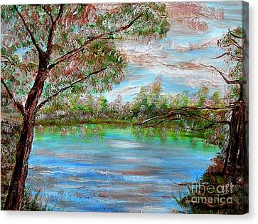 Spring On Arkansas' Greer's Ferry Lake Canvas Print by Vivian Cook