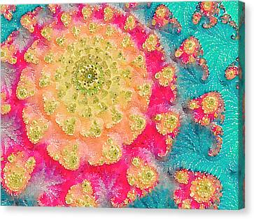 Canvas Print featuring the digital art Spring On Parade 2 by Bonnie Bruno