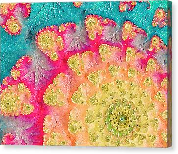 Canvas Print featuring the digital art Spring On Parade by Bonnie Bruno