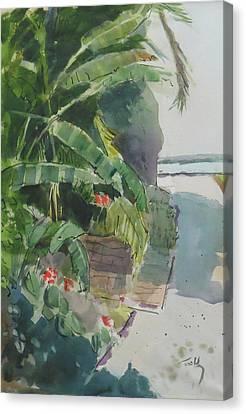 Spring Palms Canvas Print by Thomas Tribby