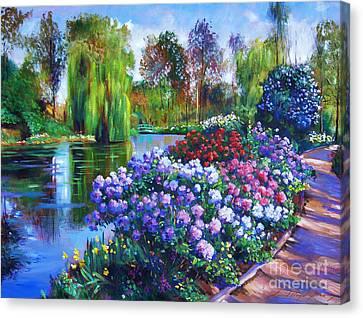 Spring Park Canvas Print by David Lloyd Glover