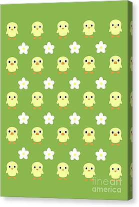 Ducklings Canvas Print - Spring Pattern by Kourai