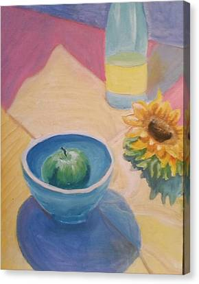 Canvas Print featuring the painting Spring Picnic  by Carol Duarte