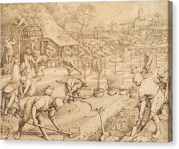 Bruegel Canvas Print - Spring by Pieter Bruegel the Elder