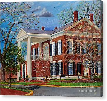 Spring Planting At The Dahlonega Gold Museum Canvas Print
