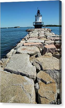 Spring Point Ledge Canvas Print by Karol Livote