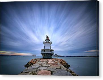 Spring Point Ledge Light Station Canvas Print by Rick Berk
