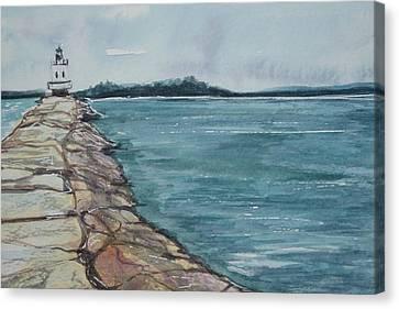 Spring Point Ledge Lighthouse Canvas Print