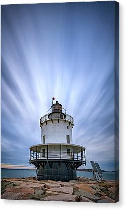 Spring Point Ledge Lighthouse Canvas Print by Rick Berk