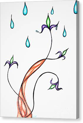 Spring Rain Canvas Print by Jamie Lynn
