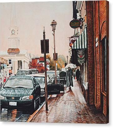 Spring Rain Canvas Print by Thomas Akers