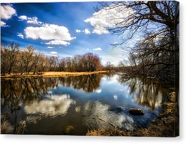Spring Reflection - Wisconsin Landscape Canvas Print by Jennifer Rondinelli Reilly - Fine Art Photography