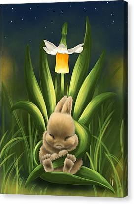 Spring Rest Canvas Print by Veronica Minozzi