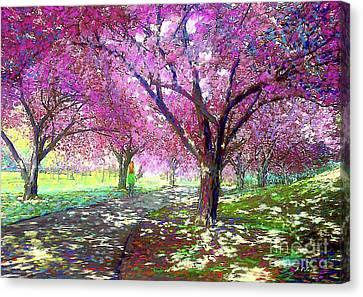 Dallas Canvas Print - Spring Rhapsody, Happiness And Cherry Blossom Trees by Jane Small