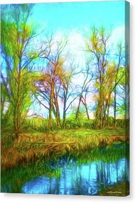 Spring River Rambling Canvas Print
