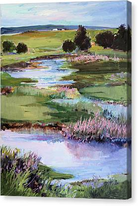 Canvas Print featuring the painting Spring Runoff by Diane Ursin