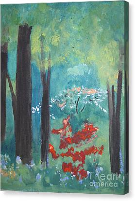 Canvas Print featuring the painting Spring by Sandy McIntire