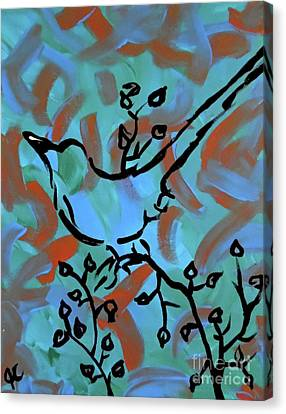 Spring Scene II Canvas Print by Jilian Cramb - AMothersFineArt