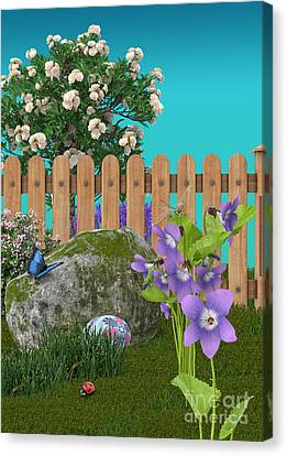 Spring Scene Canvas Print by Mary Machare