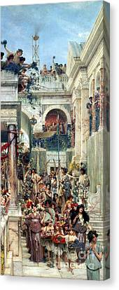 Spring Canvas Print by Sir Lawrence Alma-Tadema