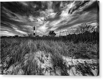 Spring Sky At Fire Island Canvas Print by Rick Berk